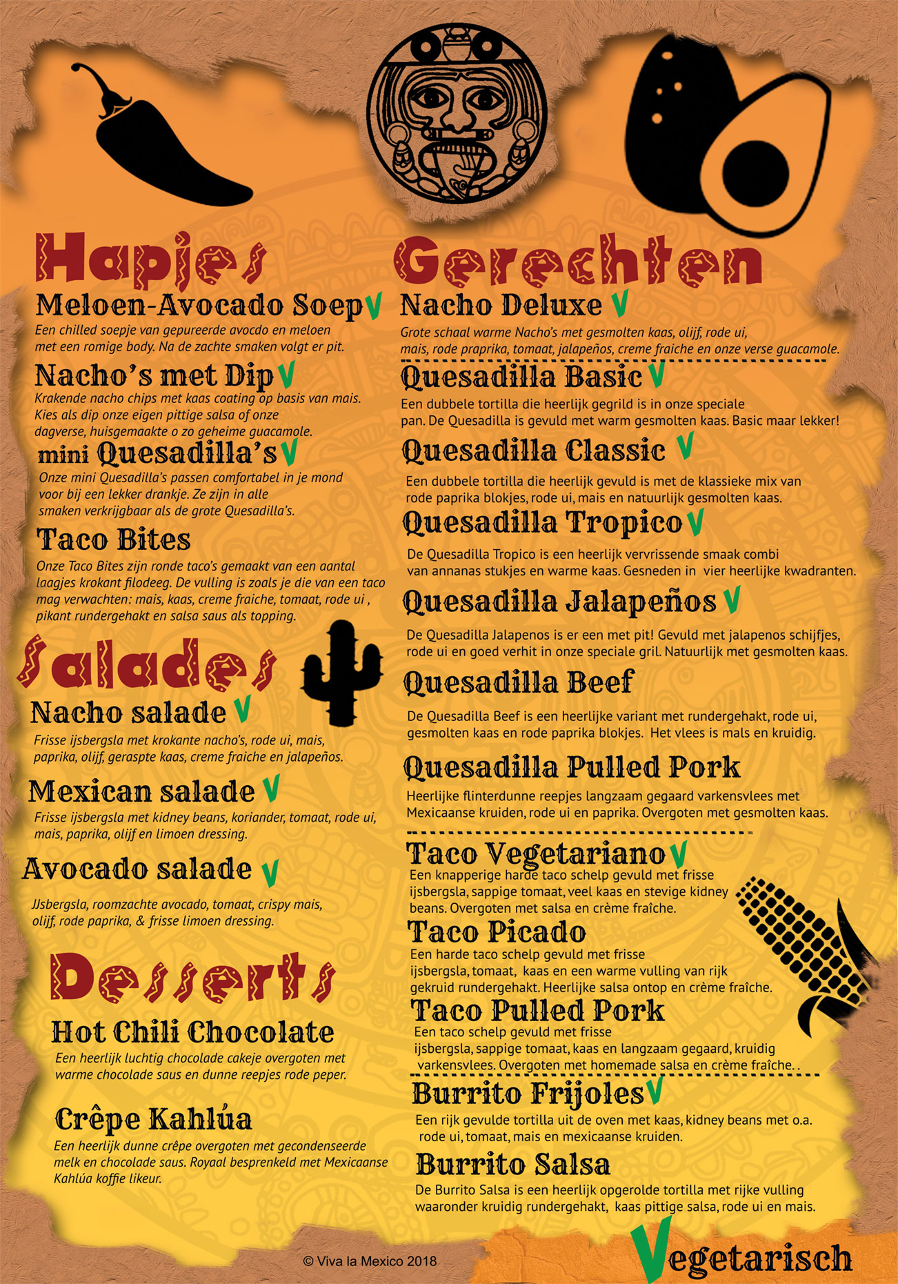 Menu Mexicaanse Foodtruck Viva La Mexico